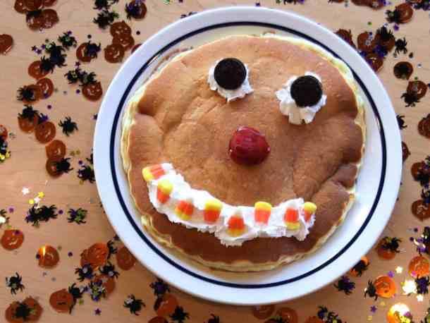 free scary face pancake