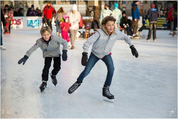 ice skating, winter in Columbus