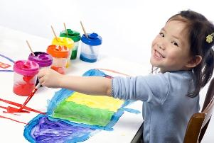 kids painting art fun