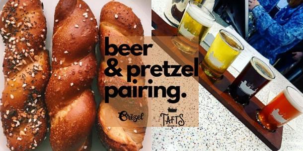 tafts beer and pretzel pairing