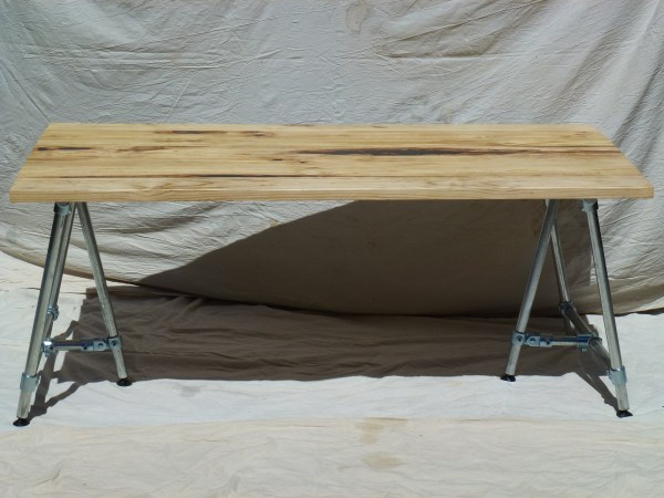 Les Alpes Steel Trestles with Heavy Reclaimed Timber Top