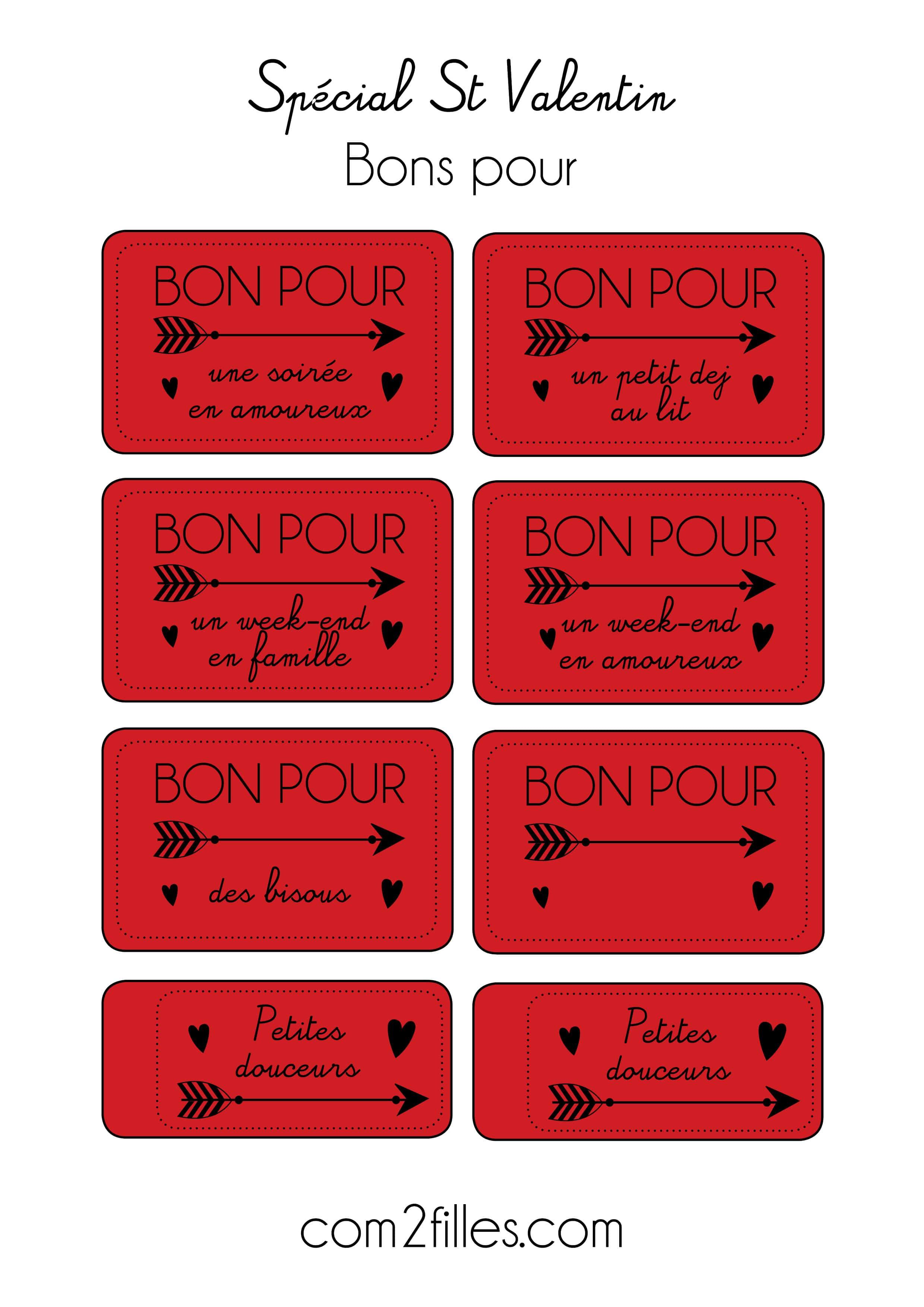 Saint Valentin 2017 Des Gift Tag Printables Pour Votre