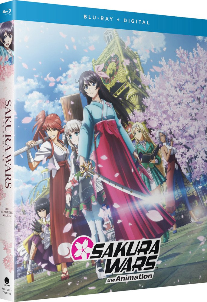 Box art for Funimation's Blu-Ray release of Sakura Wars the Animation