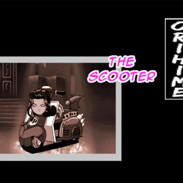 """Text from a victory screen in Sakura Wars: Hanagumi Taisen Columns 2. Text"""" Orihime: The Scooter."""""""