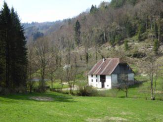 Bauernhof im Frühling