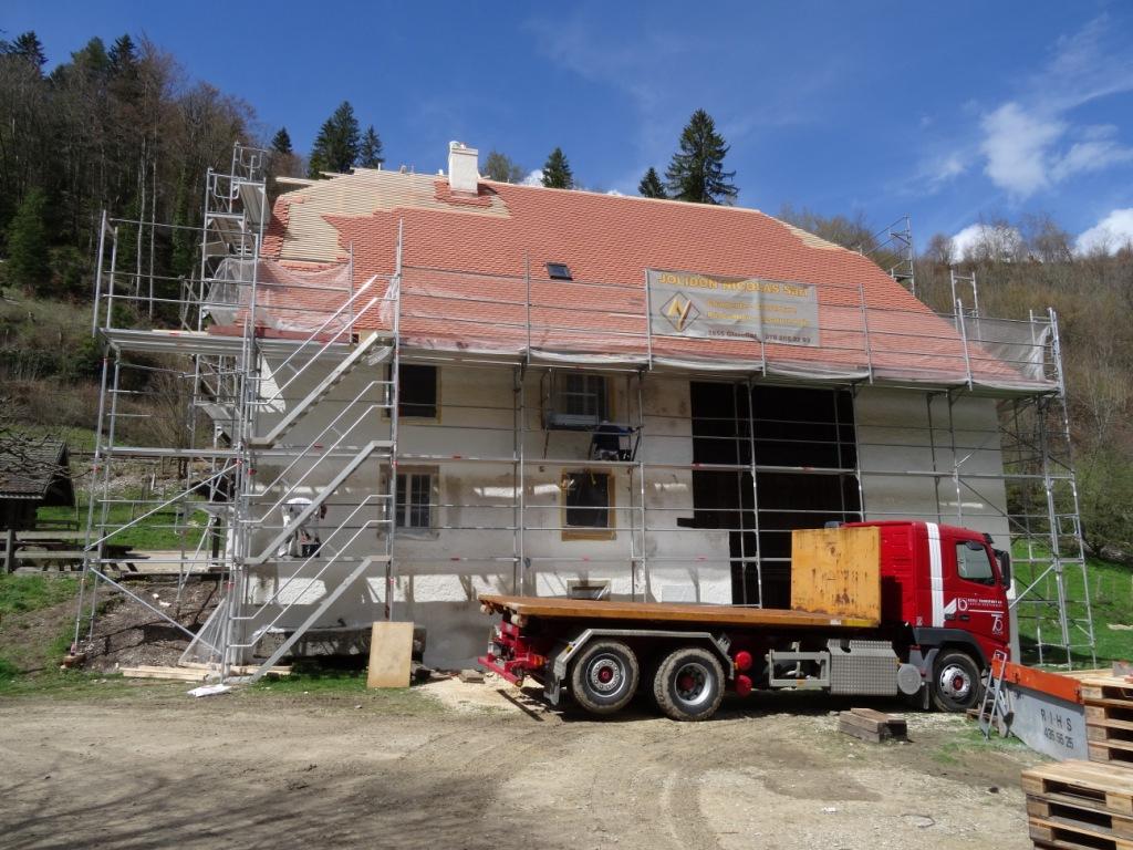 Réfection du toit: vue sud
