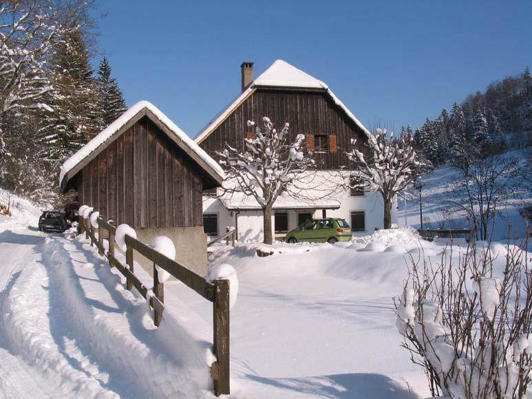 Ferme de la Combe Tabeillon en hiver