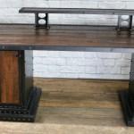 Modern Industrial Computer Desk Reclaimed Wood Desk Combine 9 Industrial Furniture