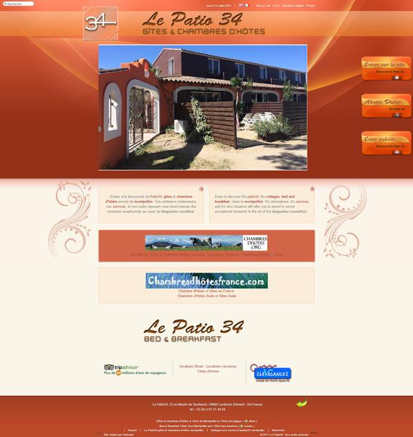 Site Internet Le Patio 34 en 2011