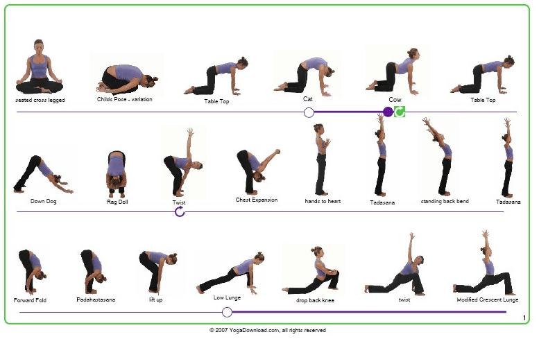 Yoga Exercise Printable Basic