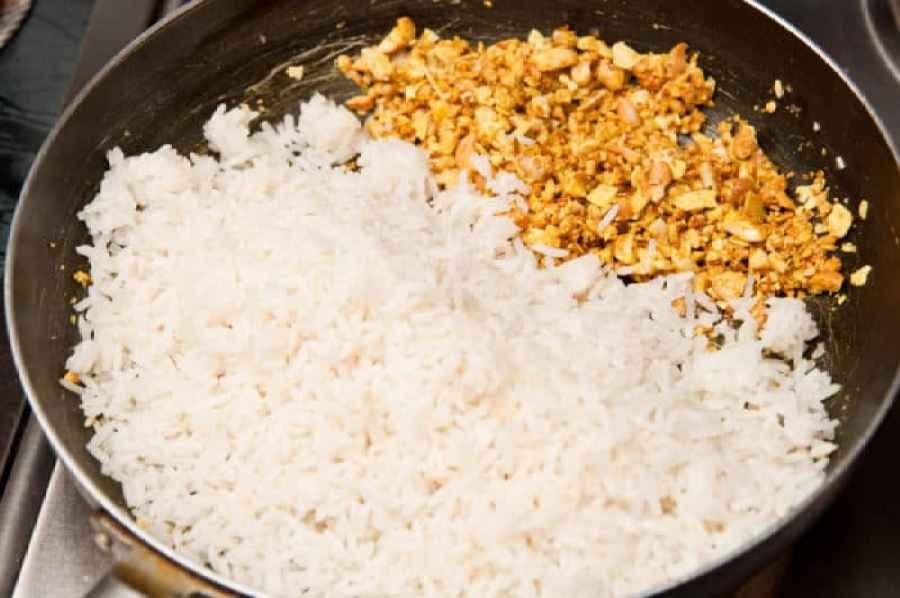 arroz frutos secos