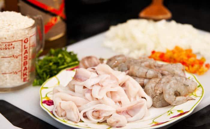 ingredientes risotto de mariscos