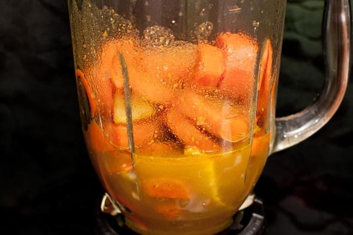 zanahoria licuada