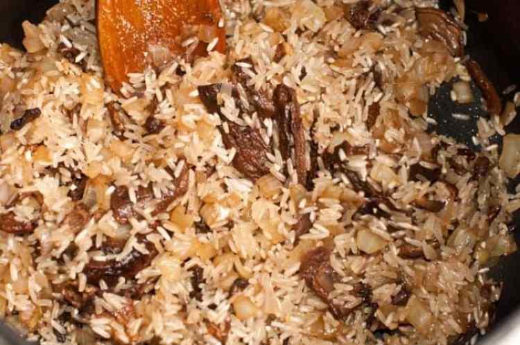 ризотто рисового гриба