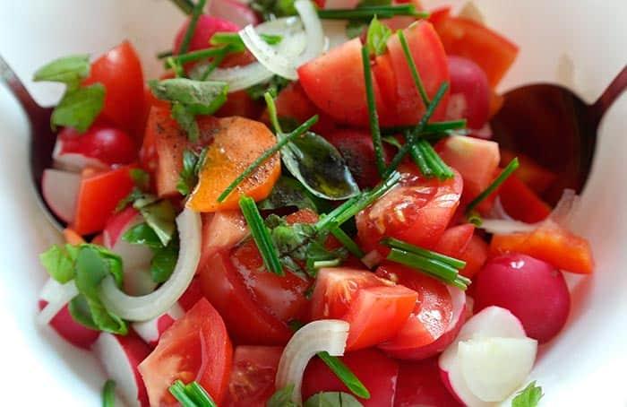 рецепт салата помидора