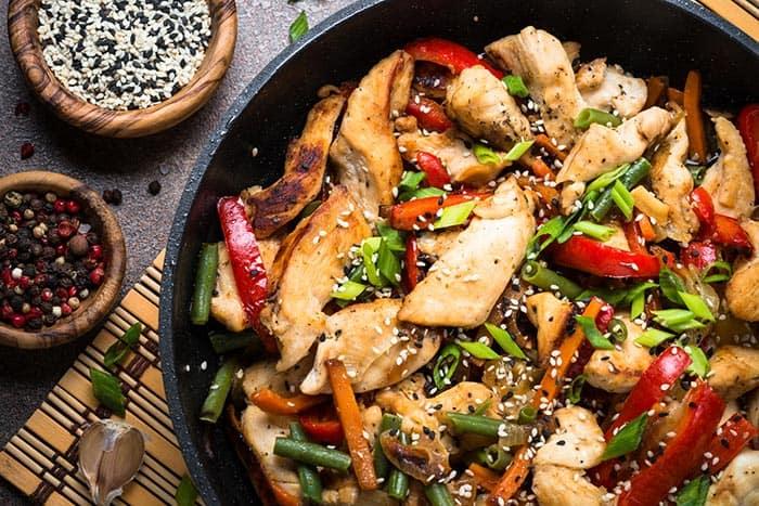 wok de pollo
