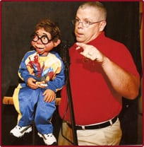 Book or Hire ventriloquist Mike Stafford