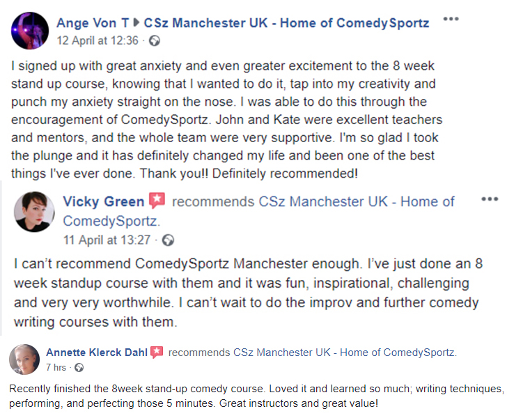 comedy classes manchester improv stand up sketch