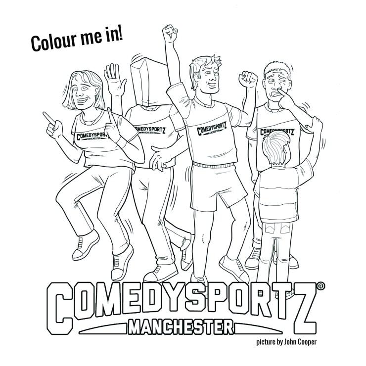 A comedysportz colouring page