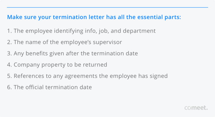 How To Write An Employment Termination Letter Covid 19 Templates Included Comeet