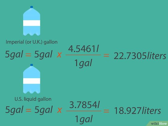 Immagine titolata Convert Gallons to Liters Step 05