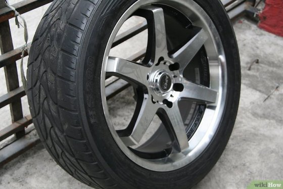 Immagine titolata Polish Aluminum Wheels Step 2