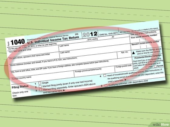 Immagine titolata Fill out IRS Form 1040 Step 1