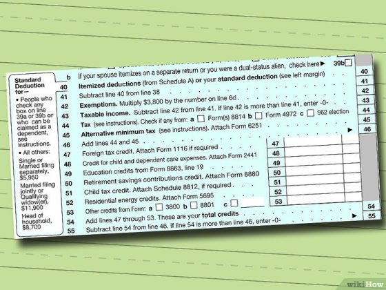Immagine titolata Fill out IRS Form 1040 Step 8