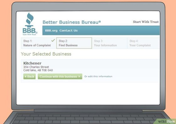 Immagine titolata File a Complaint With the Better Business Bureau Online Step 8