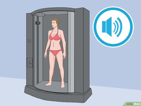Immagine titolata Stand in a Spray Tan Booth Step 6