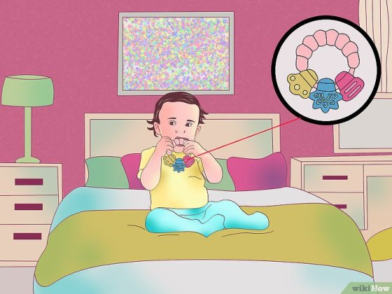 Immagine titolata Get a Teething Baby to Sleep Step 5