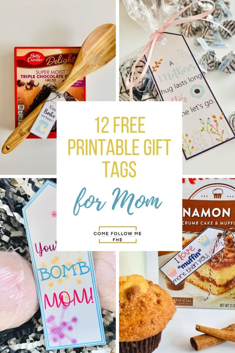 10 Unique Mother's Day Gift Ideas with 12 FREE printable tags featured by Come Follow Me FHE.