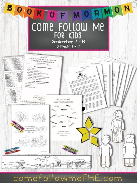 "September 7 - September 13 Come Follow Me Lesson for Kids, ""Lift Up Your Head and Be of Good Cheer"" by Come Follow Me FHE"