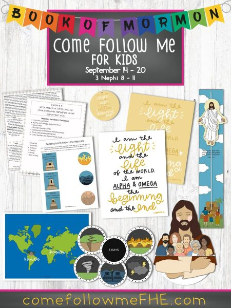 September 14 - September 20 Come Follow Me Lesson for Kids: Arise and Come Forth Unto Me by Come Follow Me FHE