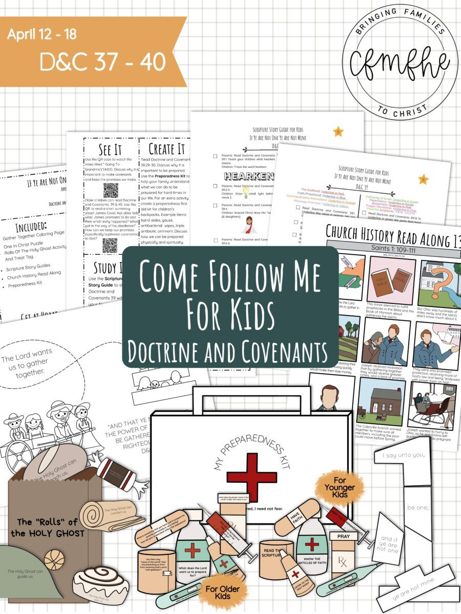 April 12 - April 18 Come Follow Me Lesson for Kids: If Ye Are Not One Ye Are Not Mine featured by Come Follow Me FHE