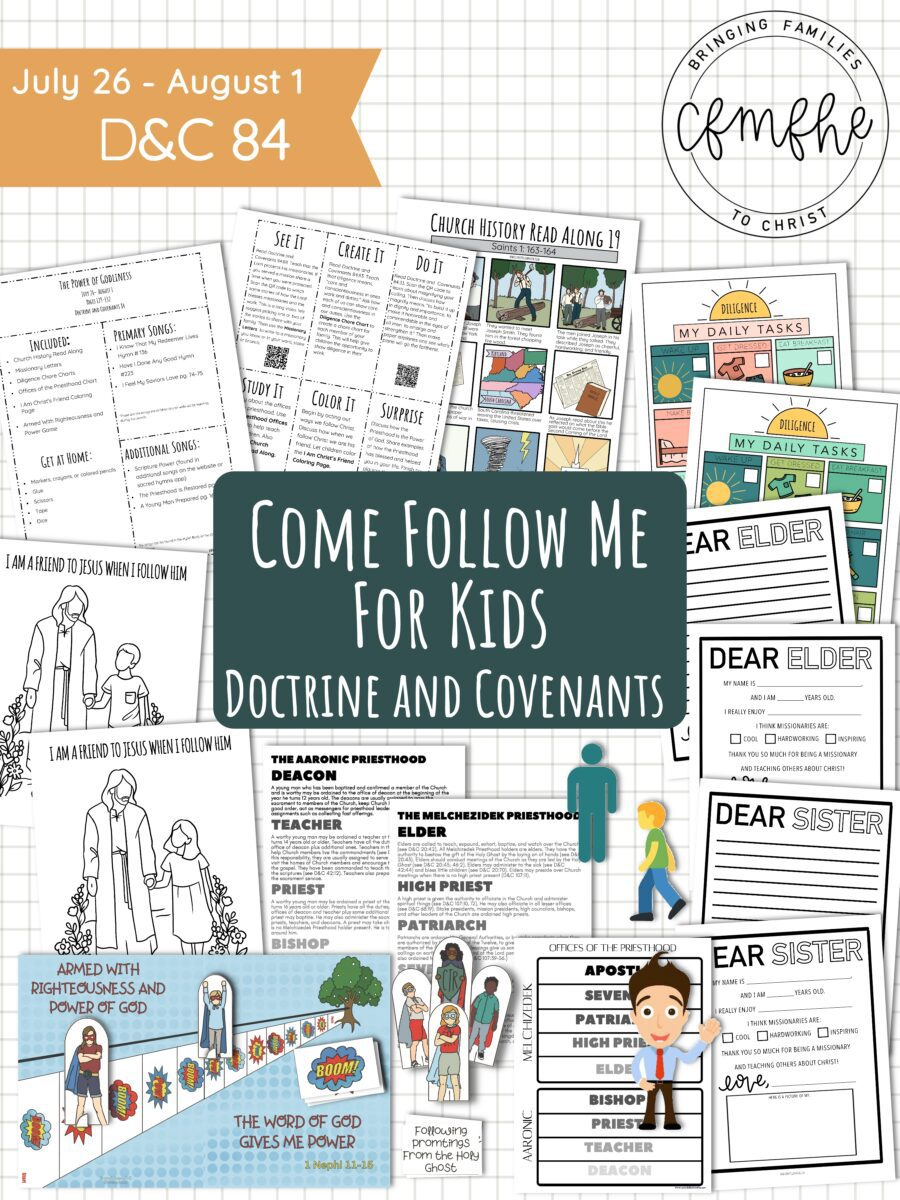 July 26 - August 1 Come Follow Me Lesson for Kids: The Power Of Godliness by Come Follow Me FHE