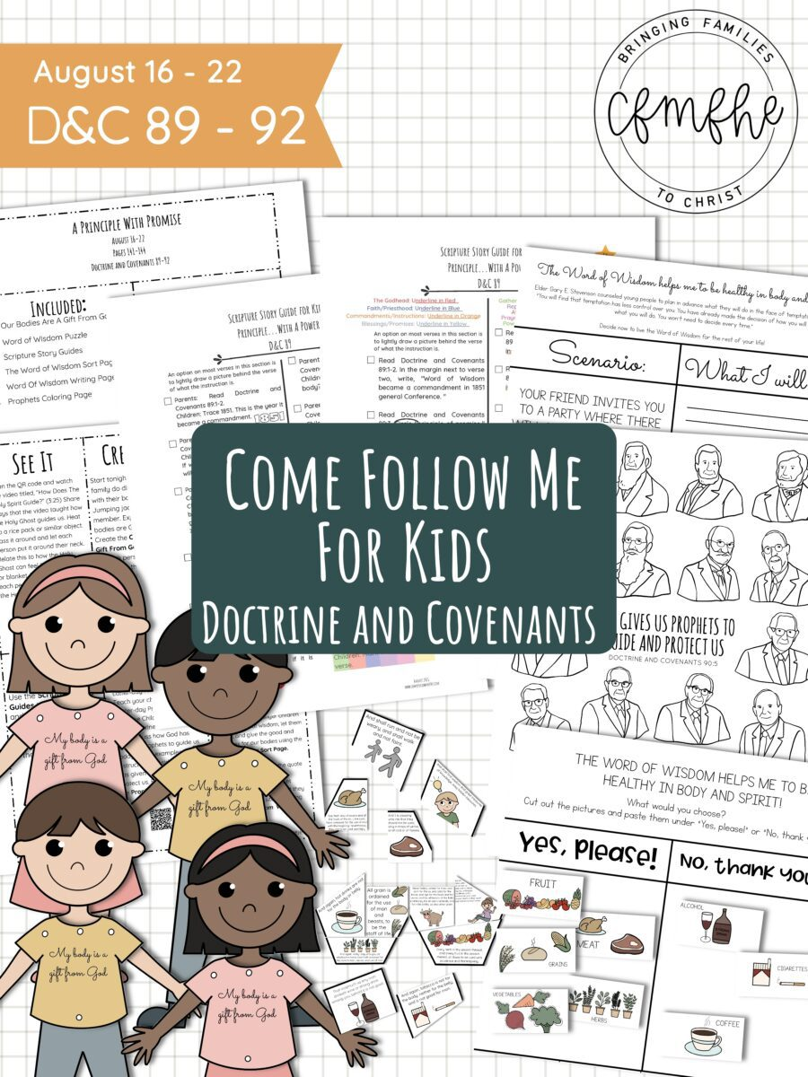 August 16 - August 22 Come Follow Me Lesson for Kids: A Principle With Promise by Come Follow Me FHE