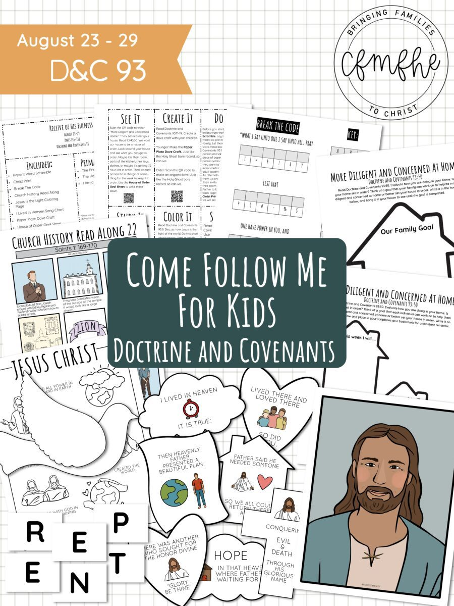 August 23 - August 29 Come Follow Me Lesson for Kids: Receive Of His Fulness by Come Follow Me FHE