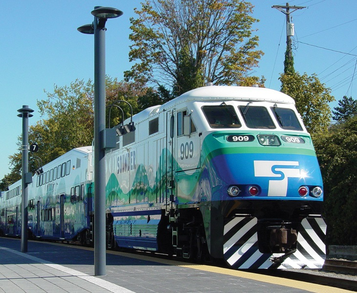 The Sounder Commuter Rail in Seattle, Washington.