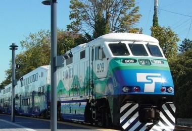 The Sounder Commuter Rail in Seattle, Washington.