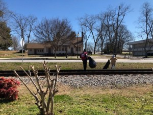 Cleaning up litter in Clayton County