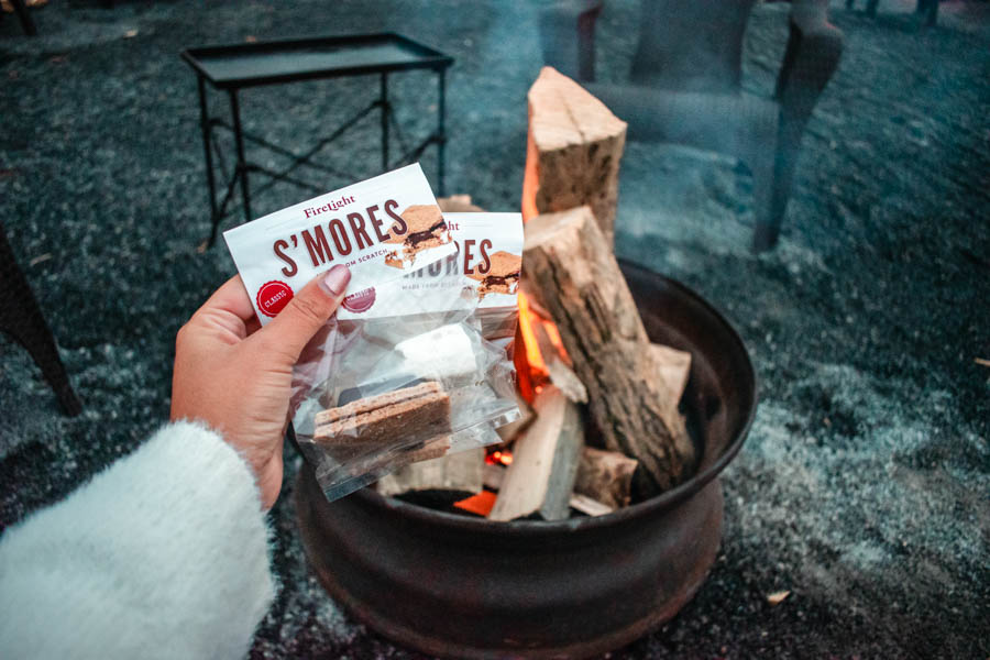 s'mores kit at Firelight Camps in Ithaca