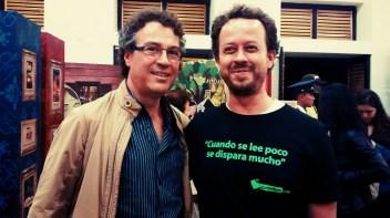 Jorge Melguizo y Carlos Andrés Naranjo en la Fiesta del Libro y la Cultura de Medellín