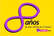 Logo ocho años Comelibros