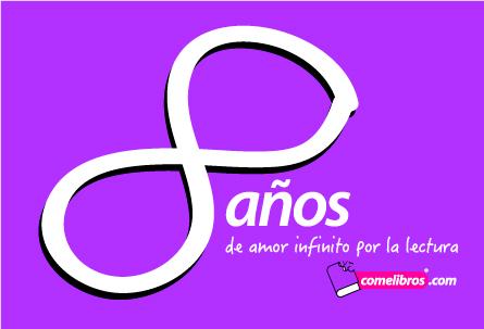 Logo 8 años Comelibros