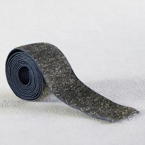 elastique-bleu-lurex-or-30-mm