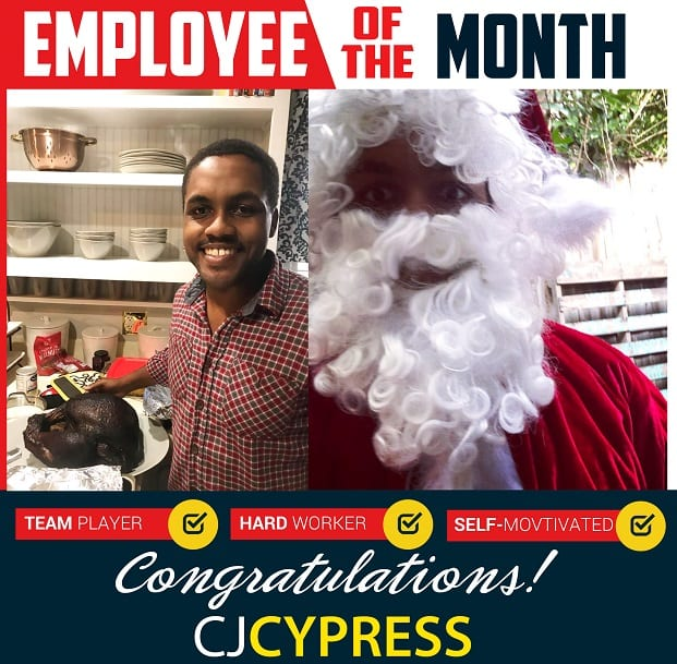 Employee of the Month – December 2018