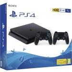 27100 - PLAYSTATION SONY PS4 SLIM 1TB BLACK+JOYSTICK ADIC