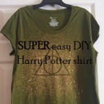 How to make a SUPER easy DIY Harry Potter shirt!