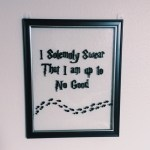 DIY-Harry Potter wall art for CHEAP!
